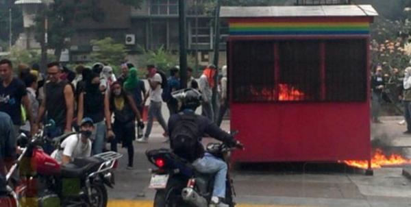 Na segunda (10), mesmo dia de manifestações opositoras, 11 linhas do metrô de Caracas foram parcialmente destruídas