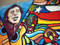 Mural a Víctor Jara, Santiago do Chile