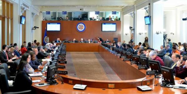 Reunião ocorreu nesta terça (28), convocada para interferir na soberania e no sistema democrático venezuelano