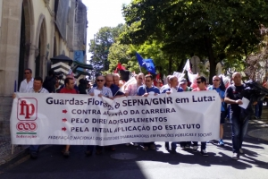 Guardas-florestais protestam nas ruas de Lisboa