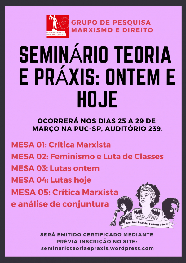 Evento na PUC-SP debate marxismo, feminismo e luta de classes