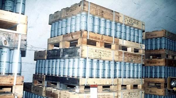 Encontradas em Aleppo centenas de caixas com armas americanas