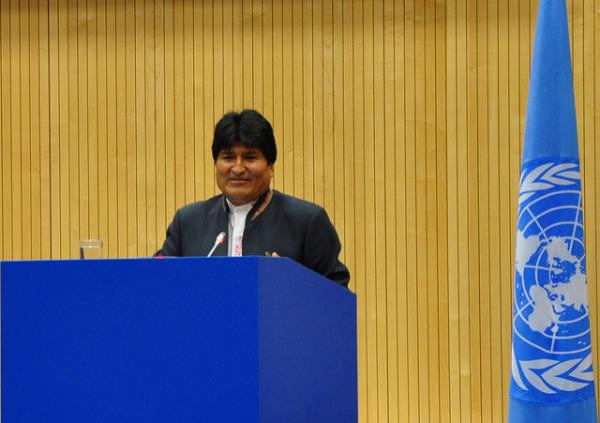 Evo Morales, presidente da República Plurinacional da Bolívia