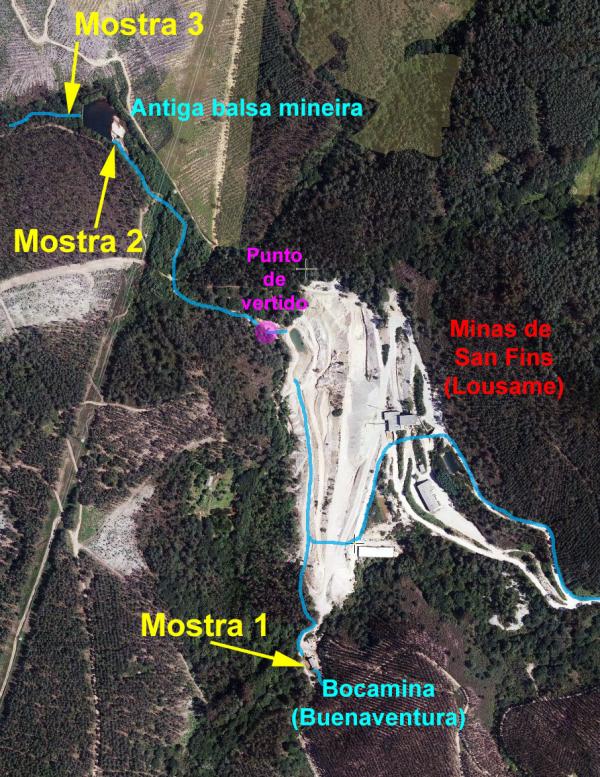 Um milhom de métros cúbicos de água poluída ameaçam a ria de Noia